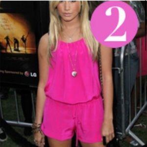 Ramona LaRue Pink Silk Romper Size Small